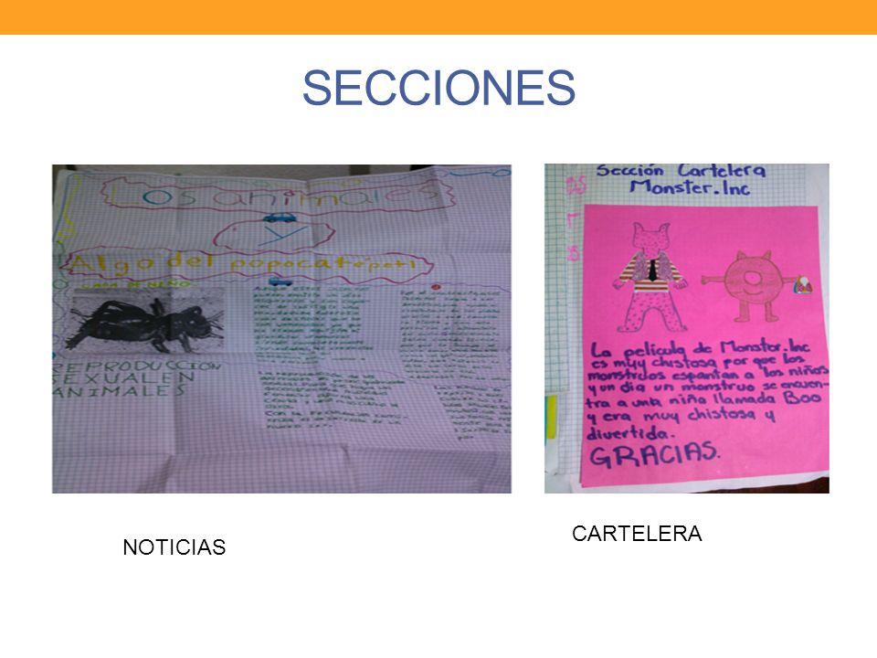 SECCIONES NOTICIAS CARTELERA