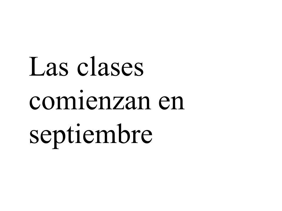 Las clases comienzan en septiembre