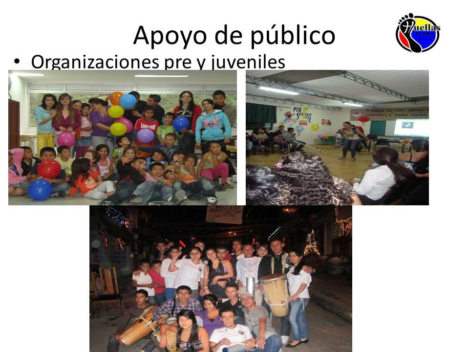 Apoyo de público Organizaciones pre y juveniles