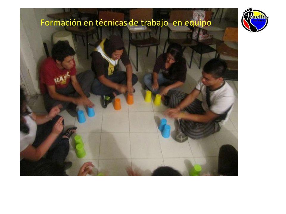 Formación en técnicas de trabajo en equipo
