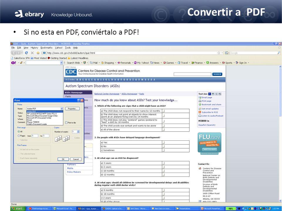 Convertir a PDF Si no esta en PDF, conviértalo a PDF!
