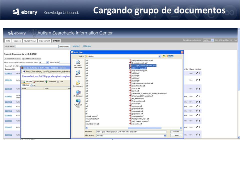Cargando grupo de documentos