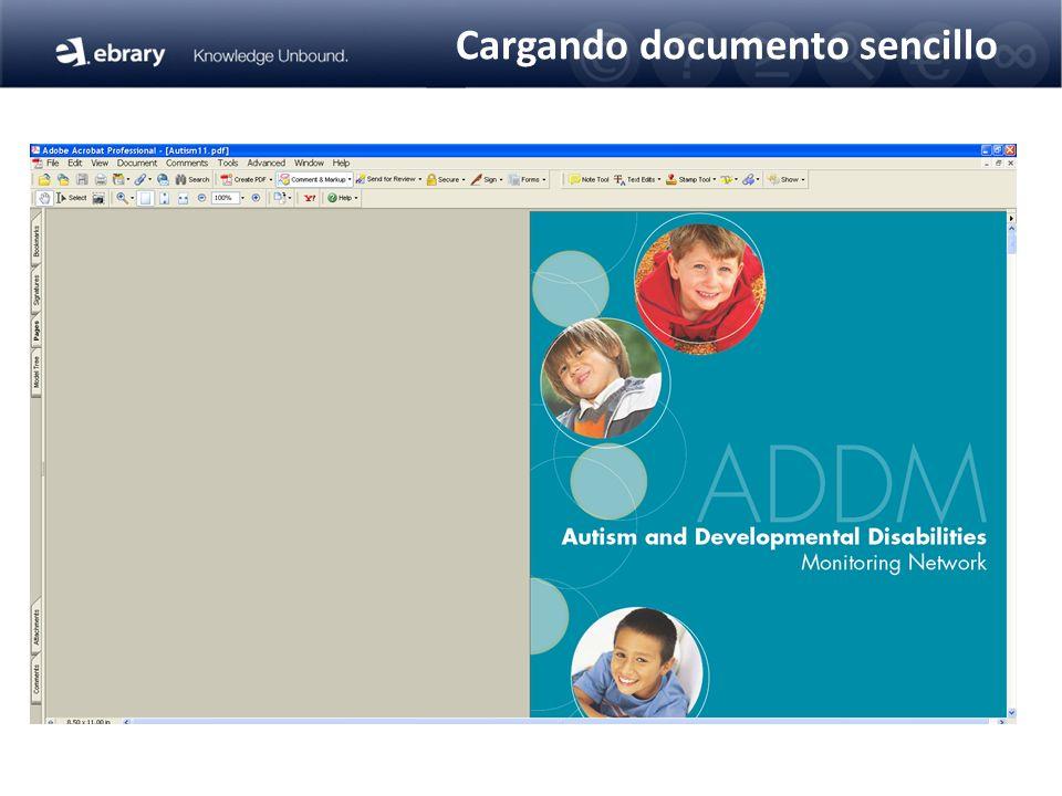 Cargando documento sencillo