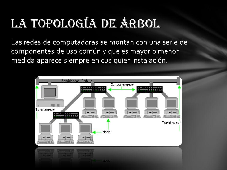 Las redes de computadoras se montan con una serie de componentes de uso común y que es mayor o menor medida aparece siempre en cualquier instalación.