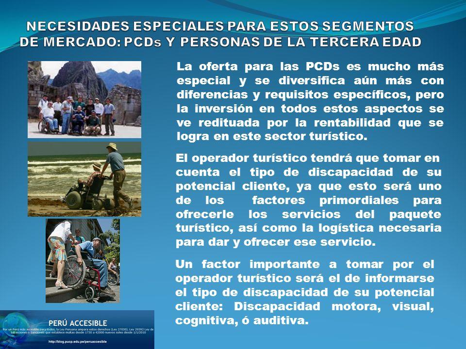 La oferta para las PCDs es mucho más especial y se diversifica aún más con diferencias y requisitos específicos, pero la inversión en todos estos aspectos se ve redituada por la rentabilidad que se logra en este sector turístico.