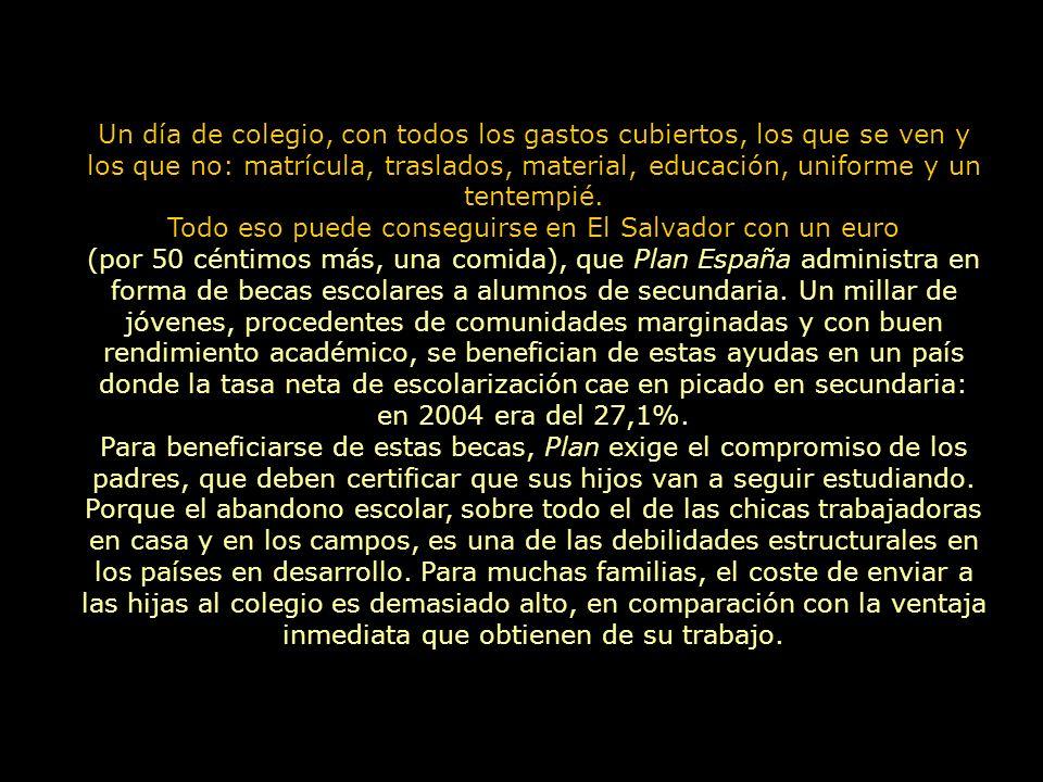 Un día de colegio El Salvador Plan España www.plan-espana.org