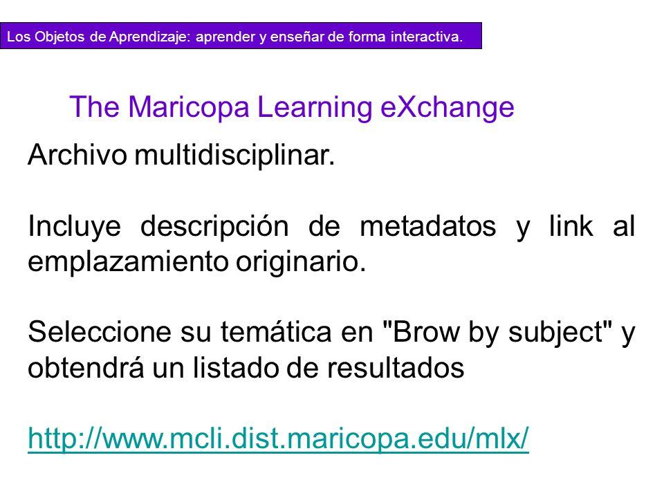 Archivo multidisciplinar. Incluye descripción de metadatos y link al emplazamiento originario. Seleccione su temática en