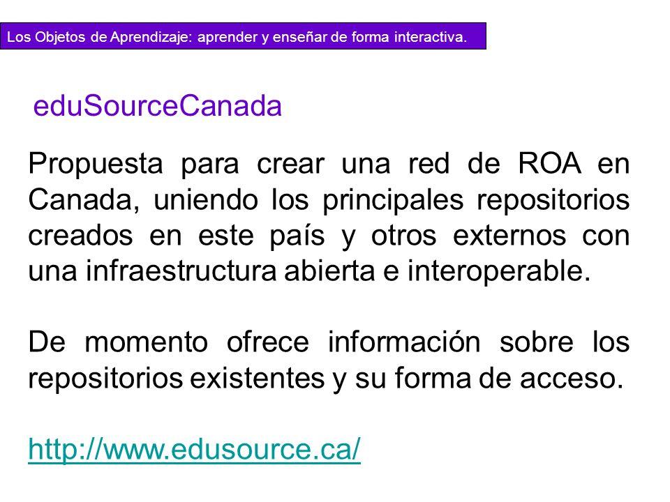 Propuesta para crear una red de ROA en Canada, uniendo los principales repositorios creados en este país y otros externos con una infraestructura abie