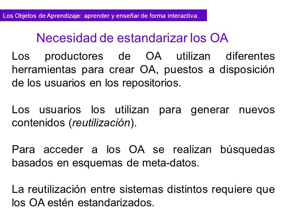 Los productores de OA utilizan diferentes herramientas para crear OA, puestos a disposición de los usuarios en los repositorios. Los usuarios los util