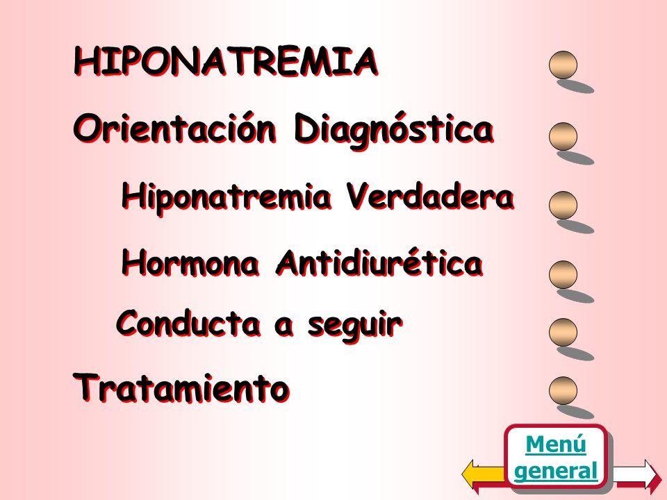 HIPONATREMIA MARIA F. de LEW