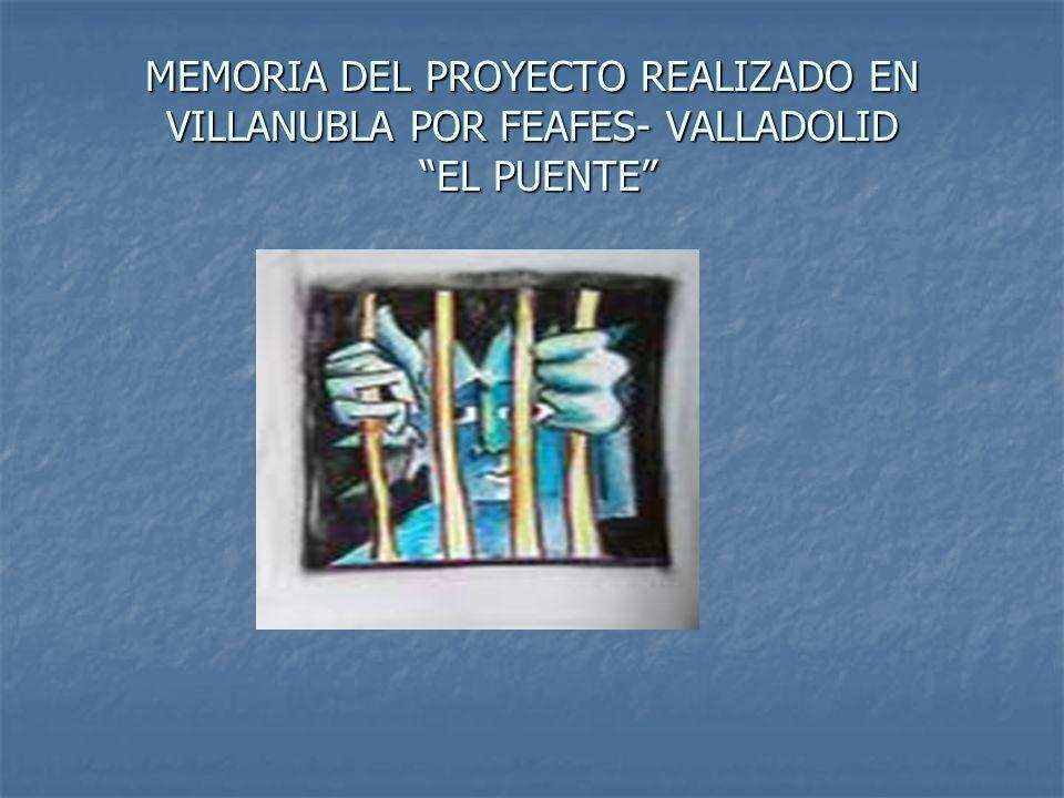 MEMORIA DEL PROYECTO REALIZADO EN VILLANUBLA POR FEAFES- VALLADOLID EL PUENTE
