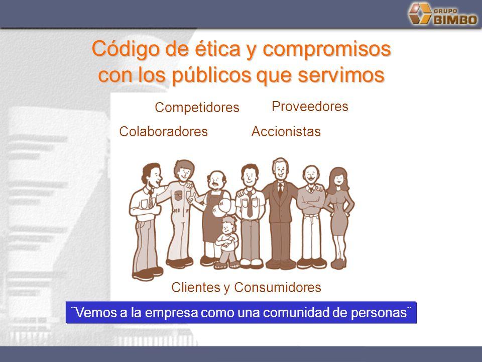 Código de ética y compromisos Código de ética y compromisos con los públicos que servimos con los públicos que servimos ColaboradoresAccionistas Prove