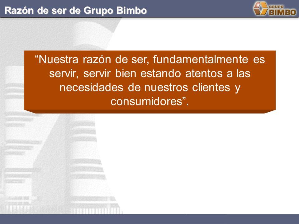 CÓDIGO DE ÉTICA DE GRUPO BIMBO: NUESTRA PERSONALIDAD FRENTE A LA SOCIEDAD Y COMPETIDORES...