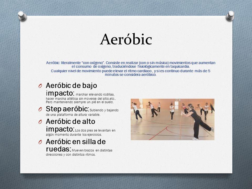 Aeróbic Aeróbic: literalmente con oxígeno.
