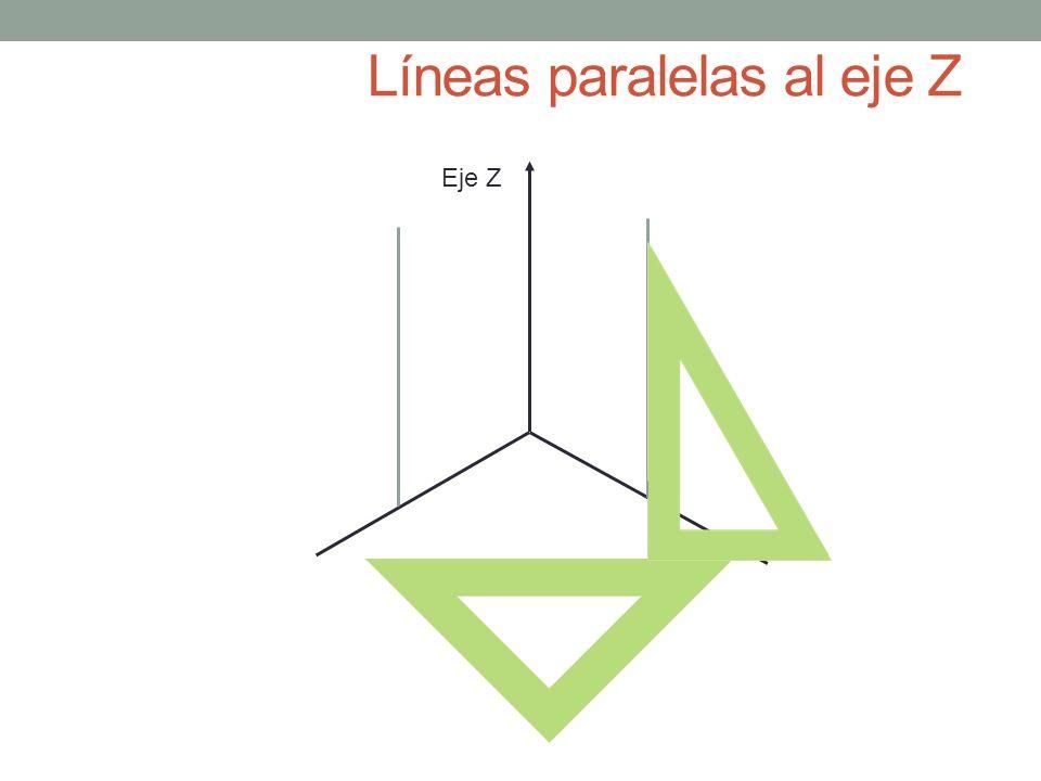 Líneas paralelas al eje Z Eje Z