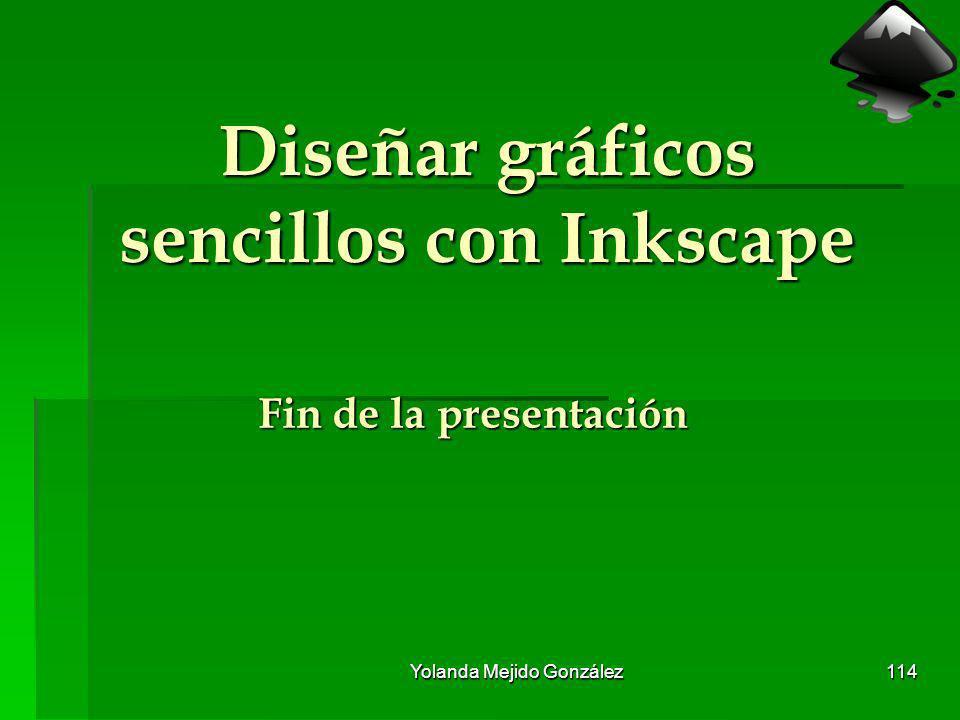 Yolanda Mejido González 114 Diseñar gráficos sencillos con Inkscape Fin de la presentación