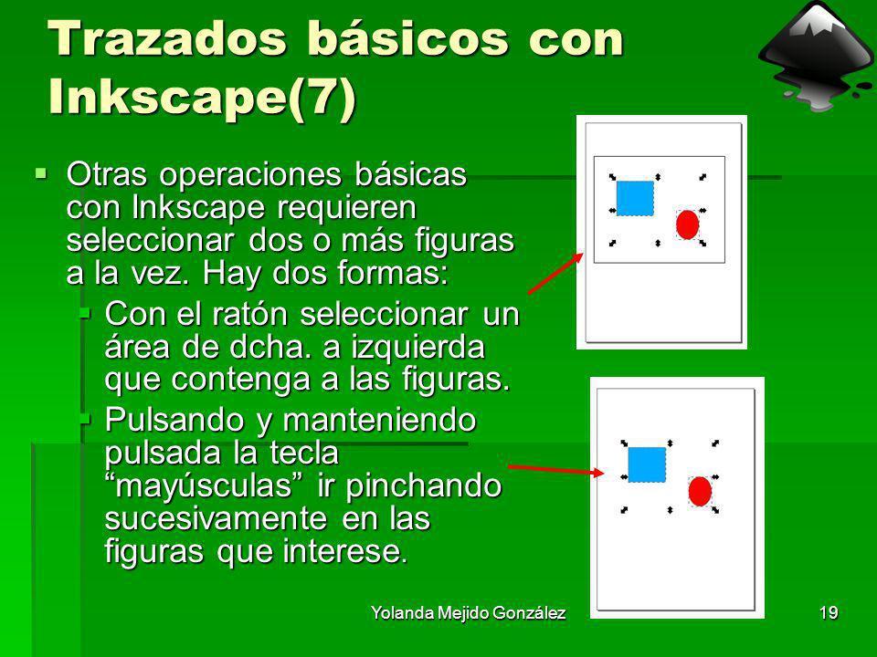 Yolanda Mejido González19 Trazados básicos con Inkscape(7) Otras operaciones básicas con Inkscape requieren seleccionar dos o más figuras a la vez. Ha