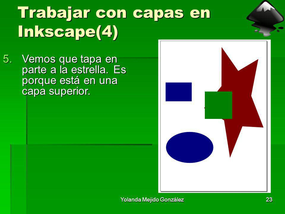 Yolanda Mejido González23 Trabajar con capas en Inkscape(4) 5.Vemos que tapa en parte a la estrella. Es porque está en una capa superior.