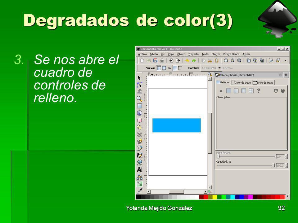 Yolanda Mejido González92 Degradados de color(3) 3.Se nos abre el cuadro de controles de relleno.