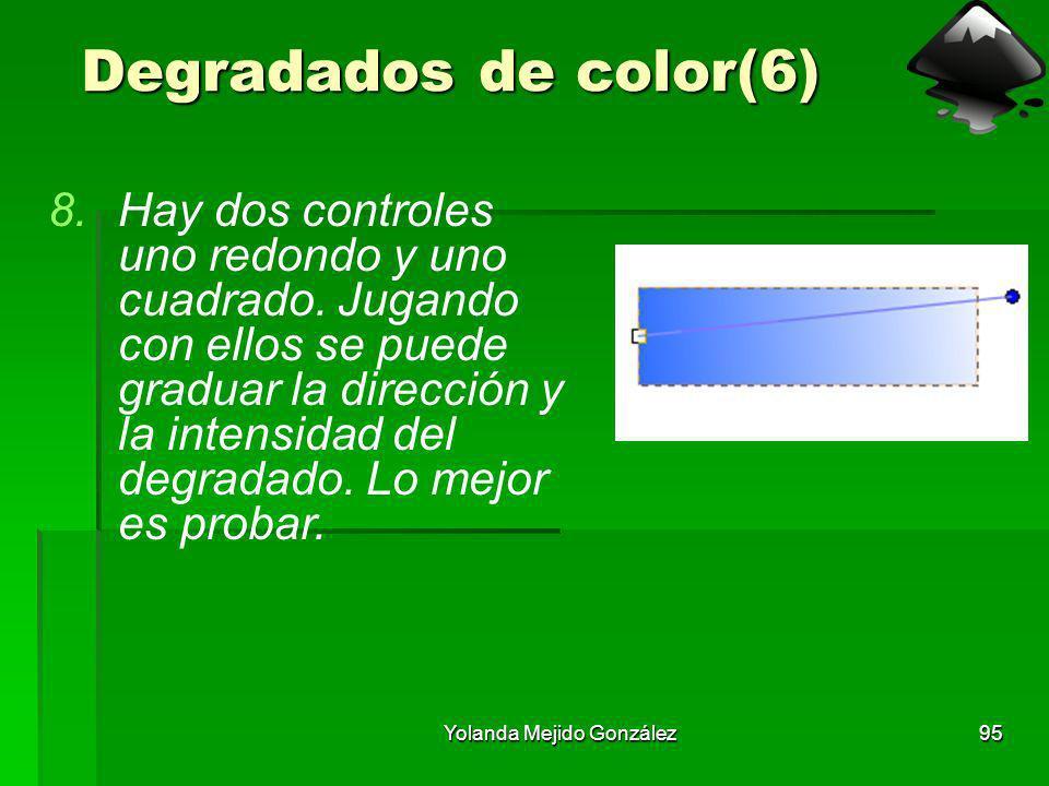 Yolanda Mejido González95 Degradados de color(6) 8.Hay dos controles uno redondo y uno cuadrado. Jugando con ellos se puede graduar la dirección y la