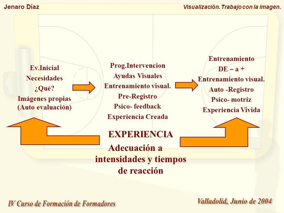 Jenaro Díaz Visualización. Trabajo con la imagen. Ev.Inicial Necesidades ¿Qué? Imágenes propias (Auto evaluación) Prog.Intervencion Ayudas Visuales En