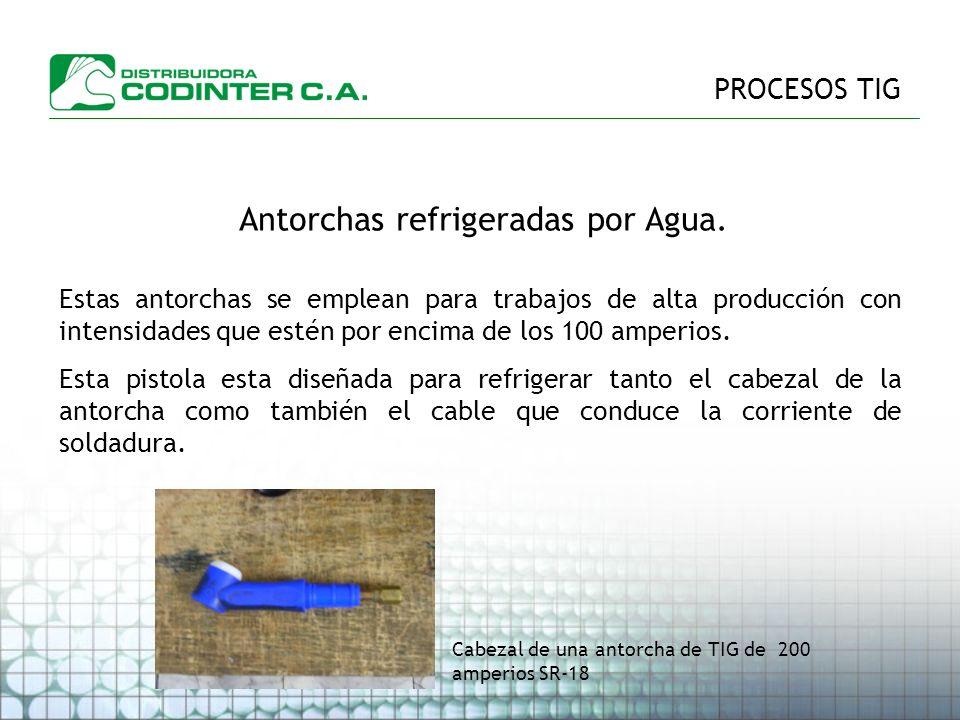 PROCESOS TIG Antorchas refrigeradas por Agua.