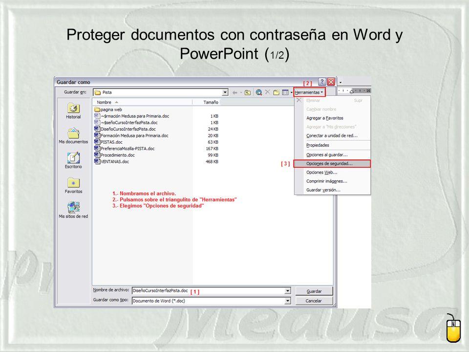Proteger documentos con contraseña en Word y PowerPoint ( 1/2 )