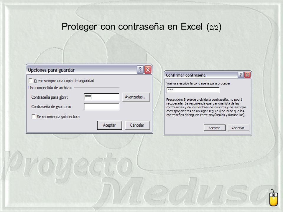 Proteger con contraseña en Excel ( 2/2 )