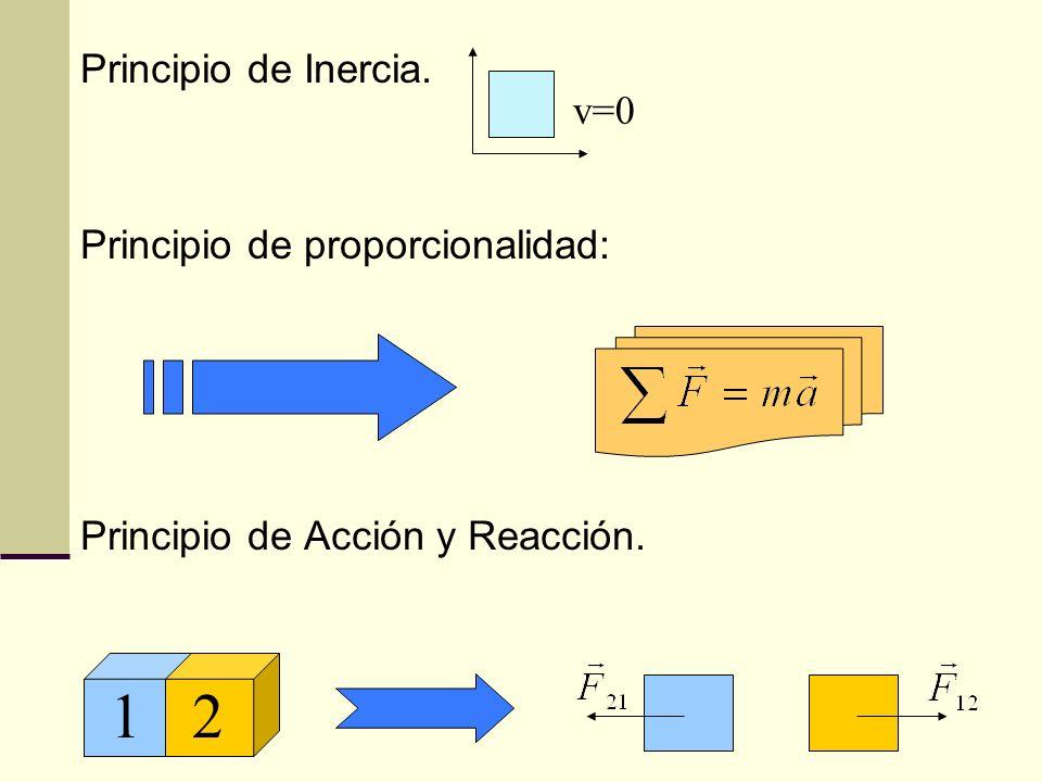 Principio de Inercia. Principio de proporcionalidad: Principio de Acción y Reacción. 12 v=0 v=cte