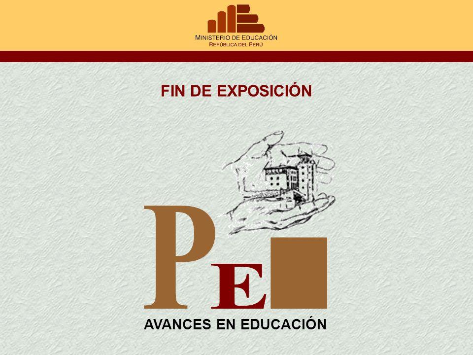 FIN DE EXPOSICIÓN AVANCES EN EDUCACIÓN