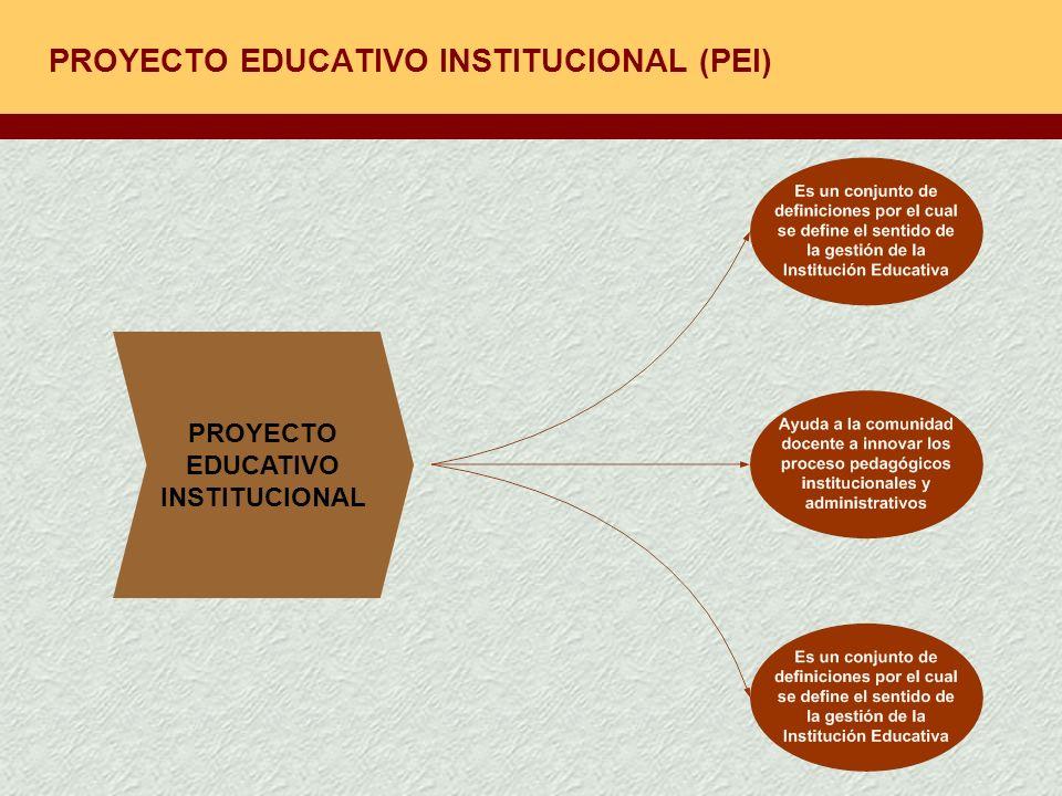 PROYECTO EDUCATIVO INSTITUCIONAL (PEI) PROYECTO EDUCATIVO INSTITUCIONAL