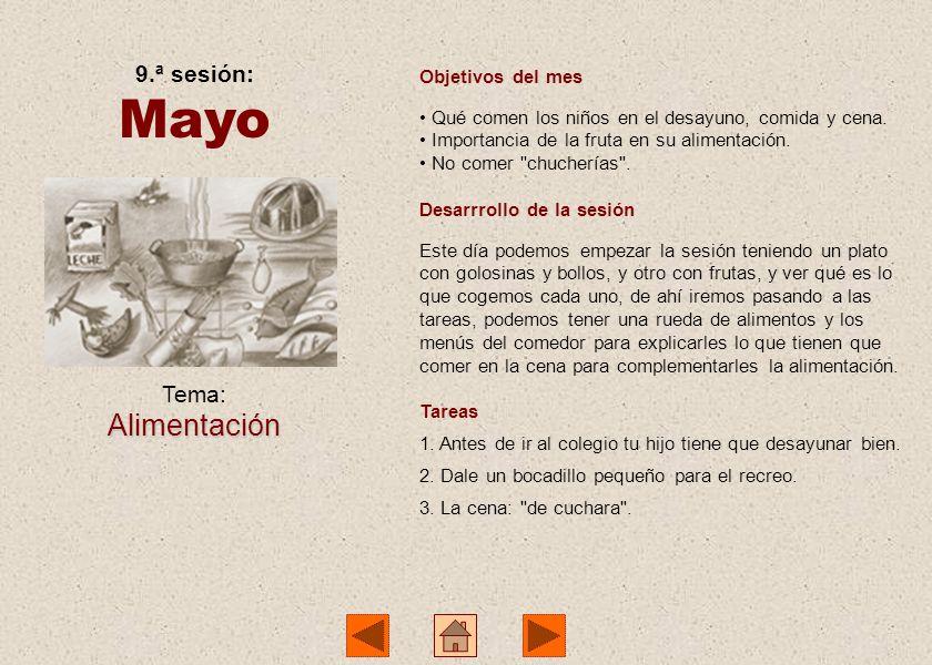 8.ª sesión: Abril Tema:Salud Objetivos del mes Accidentes domésticos. Accidentes en el colegio. Desarrrollo de la sesión Empezamos contando la visita