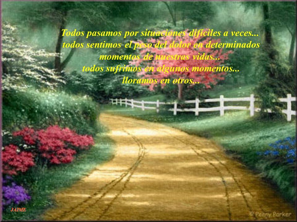 JAIME ¡Qué hermoso sería sí todos ilumináramos los caminos de los demás! Sin fijarnos si lo necesitan o no... Llevar luz y no- Oscuridad... Si toda la