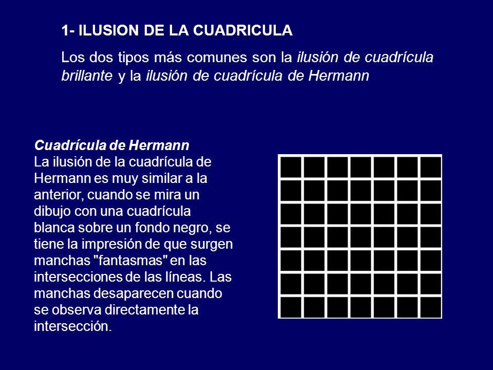 1- ILUSION DE LA CUADRICULA Los dos tipos más comunes son la ilusión de cuadrícula brillante y la ilusión de cuadrícula de Hermann Cuadrícula de Herma