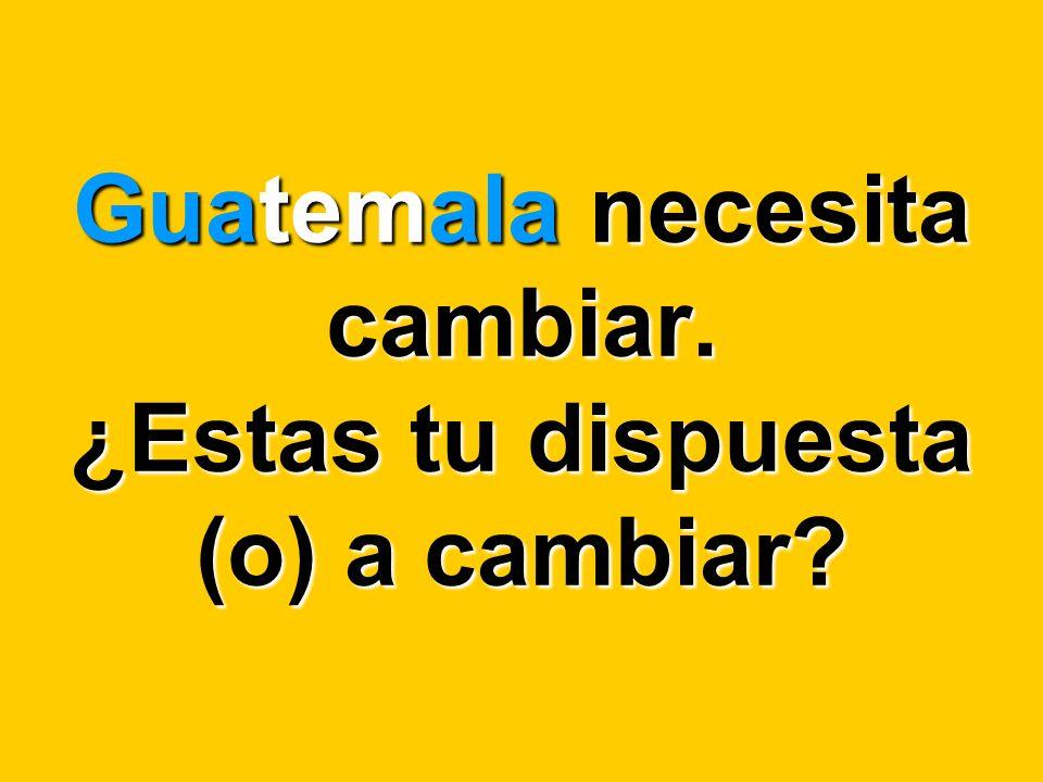 Este mensaje como otros, tiene la intensión de impactar la conciencia de los guatemaltecos.