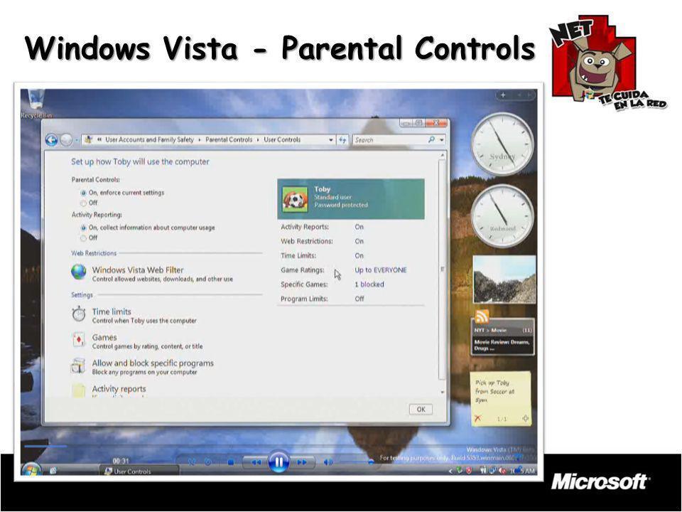 Windows Vista - Parental Controls
