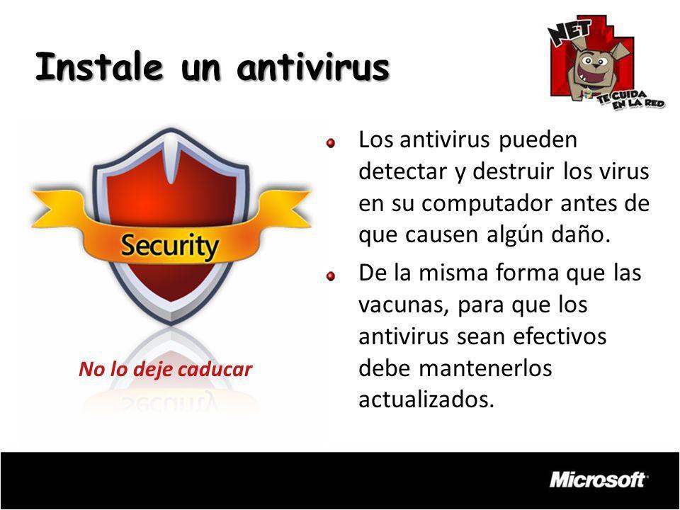 Los antivirus pueden detectar y destruir los virus en su computador antes de que causen algún daño. De la misma forma que las vacunas, para que los an