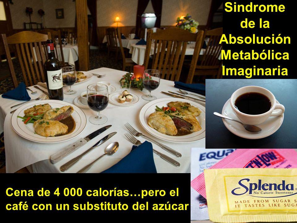 Sindrome de la Absolución Metabólica Imaginaria Cena de 4 000 calorías…pero el café con un substituto del azúcar