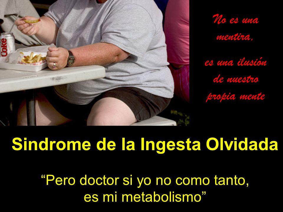 Sindrome de la Ingesta Olvidada Pero doctor si yo no como tanto, es mi metabolismo No es una mentira, es una ilusión de nuestro propia mente