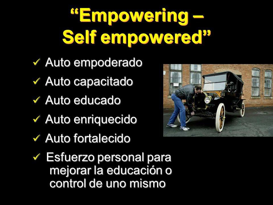 Empowering – Self empowered Auto empoderado Auto empoderado Auto capacitado Auto capacitado Auto educado Auto educado Auto enriquecido Auto enriquecid