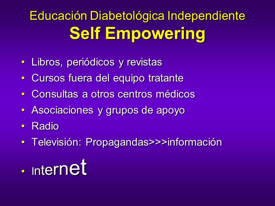 Educación Diabetológica Independiente Self Empowering Libros, periódicos y revistasLibros, periódicos y revistas Cursos fuera del equipo tratanteCurso