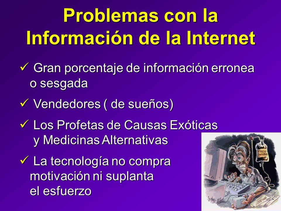 Problemas con la Información de la Internet Gran porcentaje de información erronea o sesgada Gran porcentaje de información erronea o sesgada Vendedor