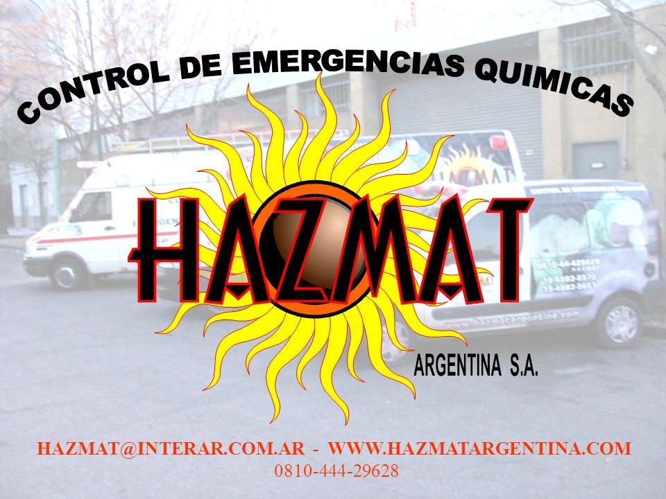 HAZMAT@INTERAR.COM.AR - WWW.HAZMATARGENTINA.COM 0810-444-29628