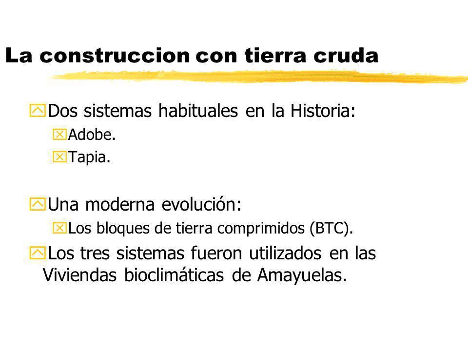 La construccion con tierra cruda yDos sistemas habituales en la Historia: xAdobe.