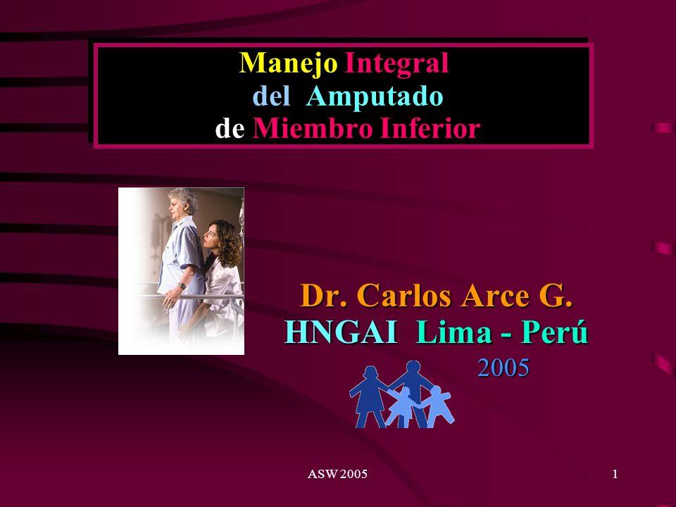 ASW 20051 Manejo Integral del Amputado de Miembro Inferior Dr.