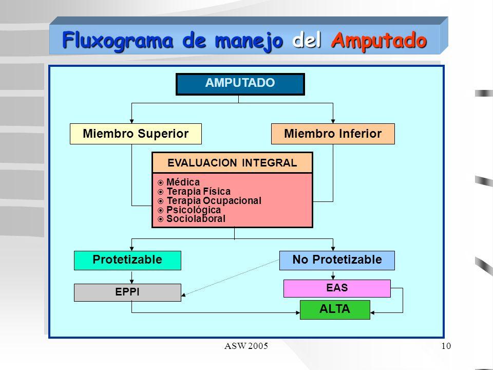 ASW 20059 AMPUTADO MF&R Médico Fisiatra Equipo Multidisciplinario TFTOTSPs PROGRAMA INTEGRAL: METAS ENTRENAMIENTO PREPROTESICO (EPPI) ENTRENAMIENTO PR