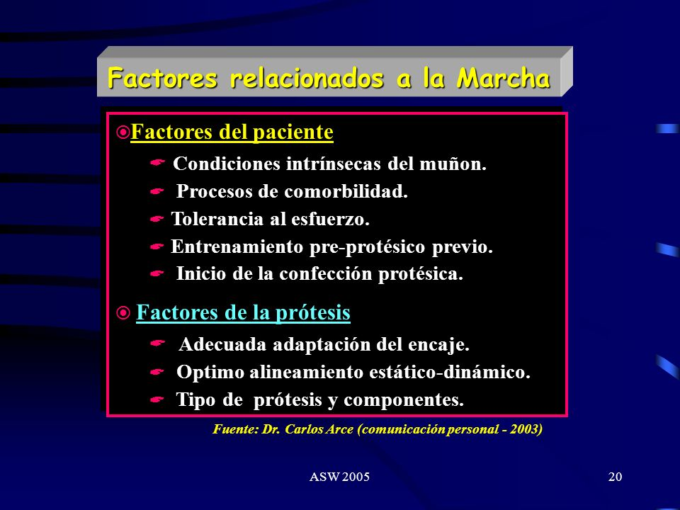 ASW 200519 Amputados: Escalas de Valoración Funcional Niveles funcionales Nivel Funcional 0 : Pac. que no tiene la capacidad de deambular o trasladars