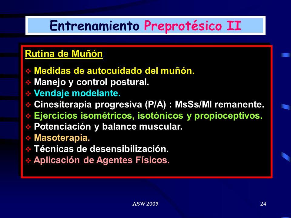 ASW 200523 Concepto: Entrenamiento preprotésico: Fase dirigida a pacientes considerados protetizables como a los no protetizables. Tratamiento fisiote