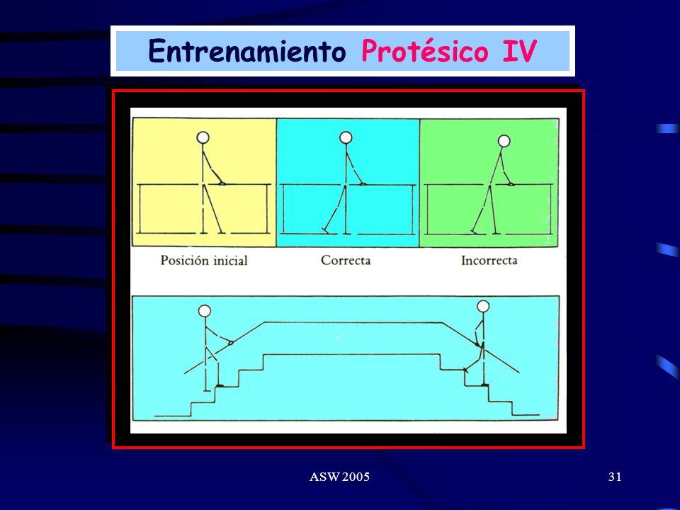 ASW 200530 Entrenamiento Protésico III