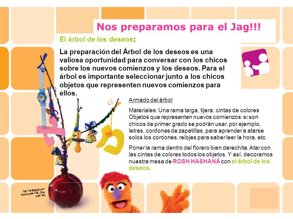 Nos preparamos para el Jag!!! El árbol de los deseos: La preparación del Árbol de los deseos es una valiosa oportunidad para conversar con los chicos